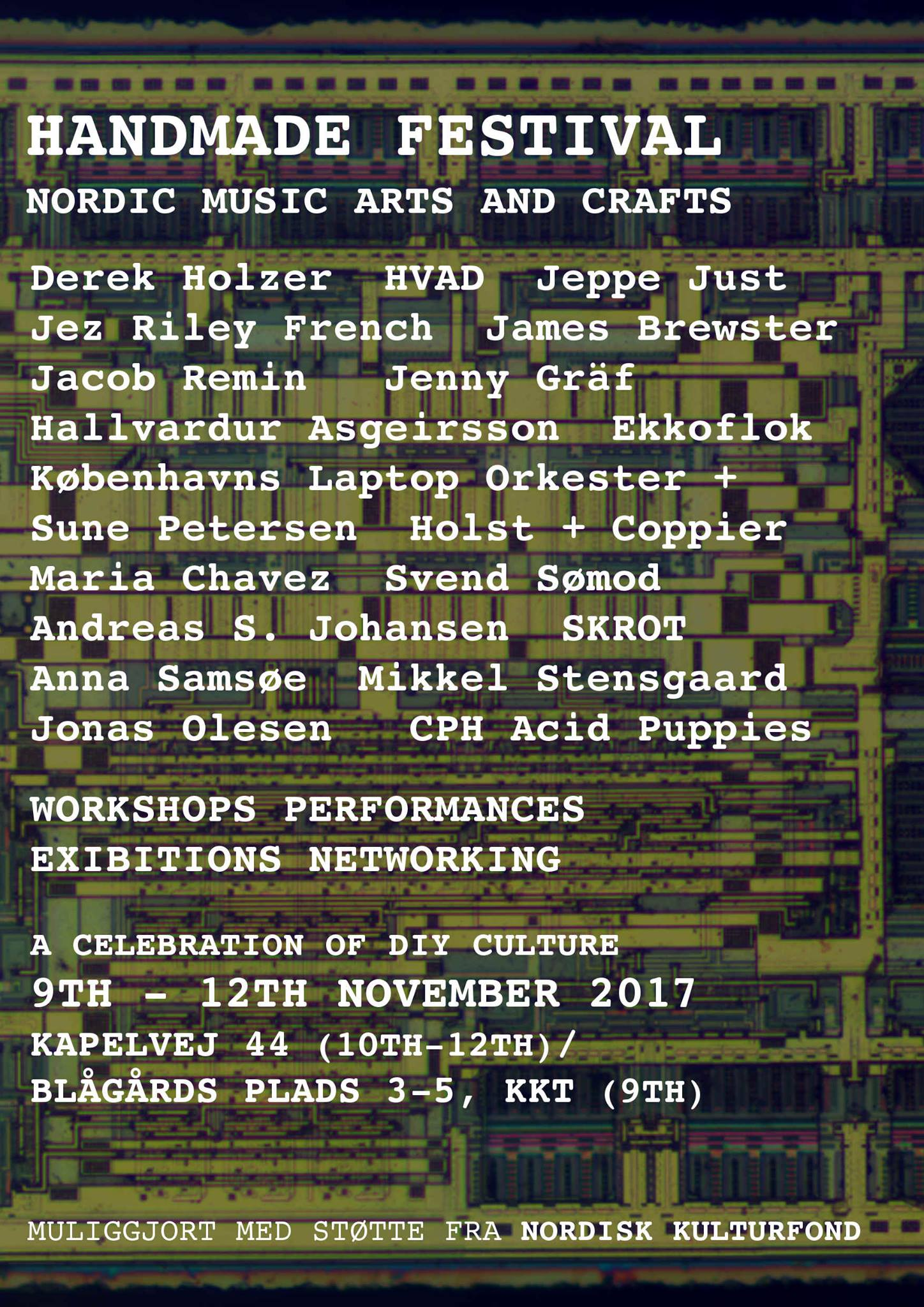 Handmade festival - Nordic Music Arts and Crafts - 9. - 12. November 2017